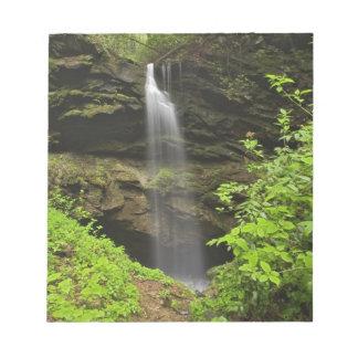 Waterfall falling into sink, Whiteoak Sink, Notepad