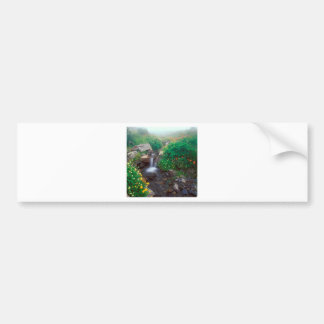 Waterfall Flowing Mist Olympic Park Bumper Stickers