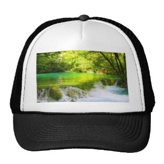 waterfall forest peace calm and joy cap