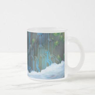 Waterfall Frosted Glass Mug