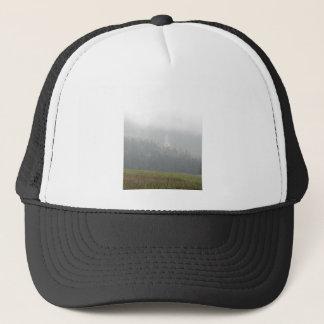 waterfall grass sky trucker hat