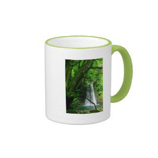 Waterfall in Azores islands Ringer Mug