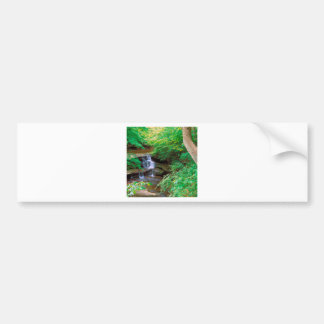 Waterfall In Starved Rock State Park Illinois Bumper Sticker