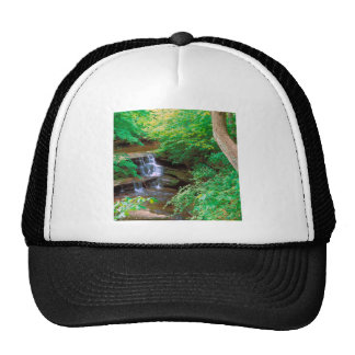 Waterfall In Starved Rock State Park Illinois Mesh Hats