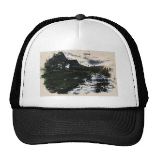 Waterfall in the high mountain.jpg hat