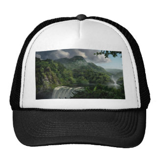Waterfall in the Mountains Jungle Cap