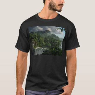 Waterfall in the Mountains Jungle T-Shirt