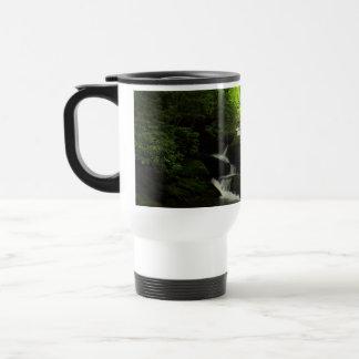 Waterfall in the mountains mug