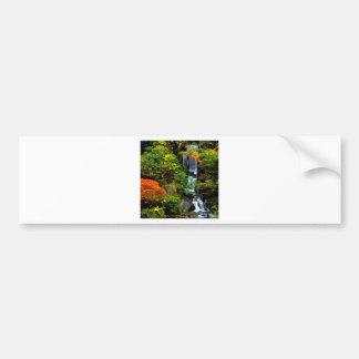 Waterfall Japanese Garden Portland Bumper Stickers