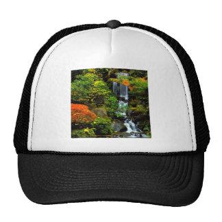 Waterfall Japanese Garden Portland Mesh Hats