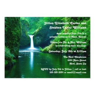Waterfall Landscape Photo - Wedding Announcement