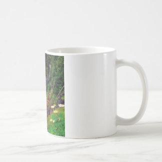 Waterfall Mount Rainier Coffee Mugs