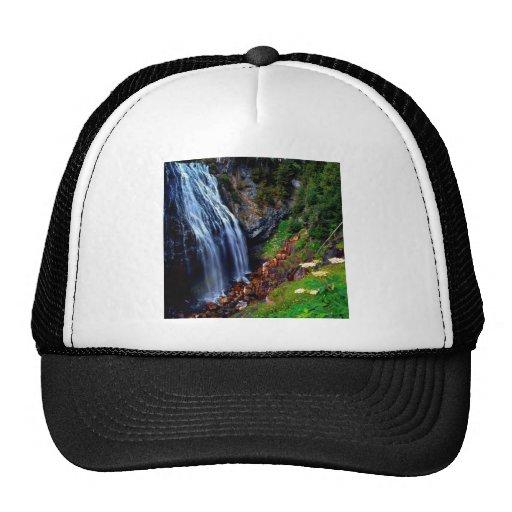 Waterfall Mount Rainier Hats