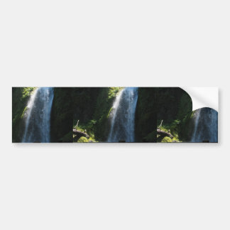 Waterfall Near Columbia River Bumper Sticker