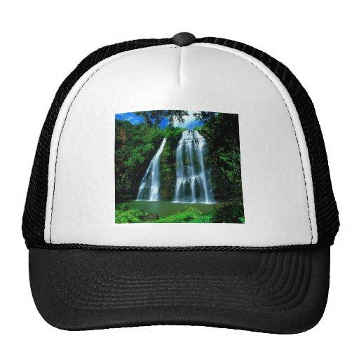 Waterfall Opaekaa Kauai Hawaii Hat