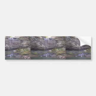 Waterfall Over A Rocky Cliff Into A Pool Of Water Bumper Stickers