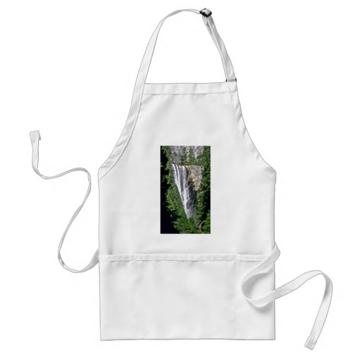 Waterfall Over Cliff In Forest Apron