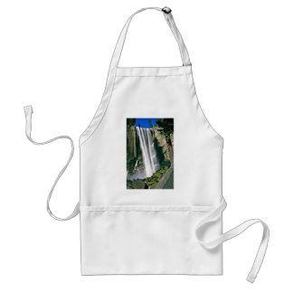 Waterfall Over Rock Cliffs Aprons