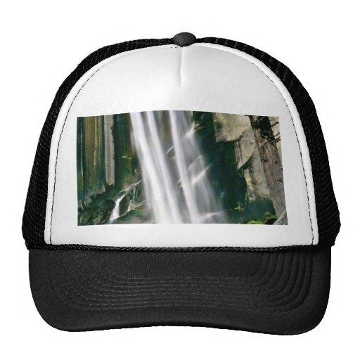 Waterfall Over Rock Cliffs Mesh Hats