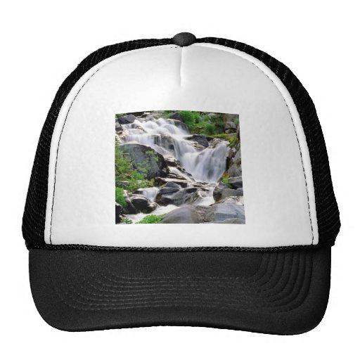 Waterfall Paradise Mount Rainier Park Hats