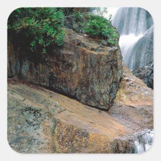 Waterfall Peaceful Colorado Square Sticker