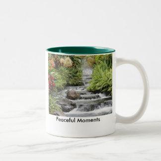 Waterfall, Peaceful Moments Two-Tone Mug