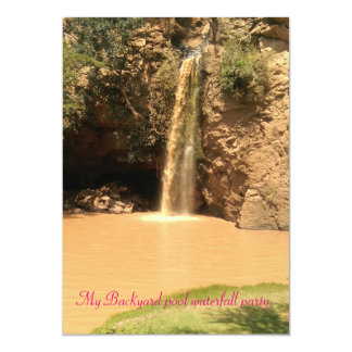 Waterfall Pool Party Invitations