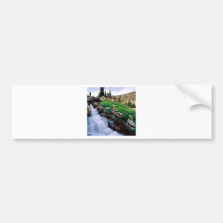 Waterfall Rushing Of Spring Teton Park Wyoming Bumper Sticker