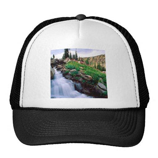 Waterfall Rushing Of Spring Teton Park Wyoming Hat