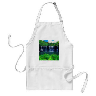 Waterfall Secluded Kauai Adult Apron