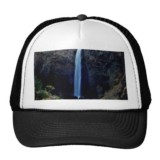 Waterfall Surrounded By Jagged Rocks Hat