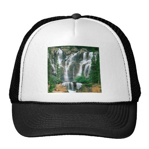 Waterfall Tangle Jasper Park Canada Mesh Hat