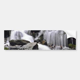 Waterfall Terraced Over Rocks Bumper Sticker