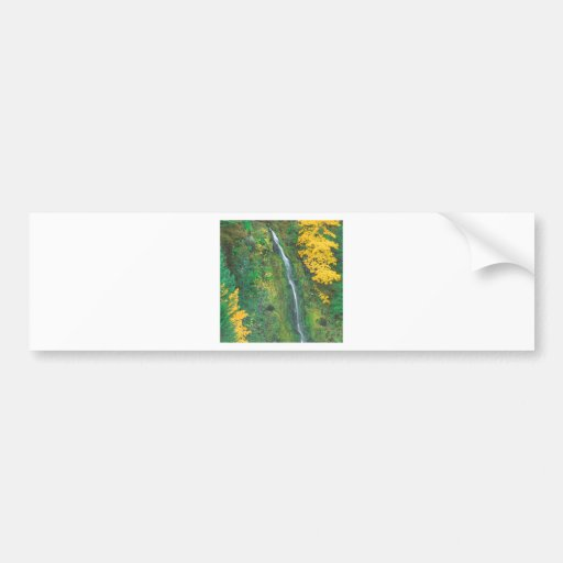 Waterfall Terwilliger Hot Springs Fall Bumper Stickers