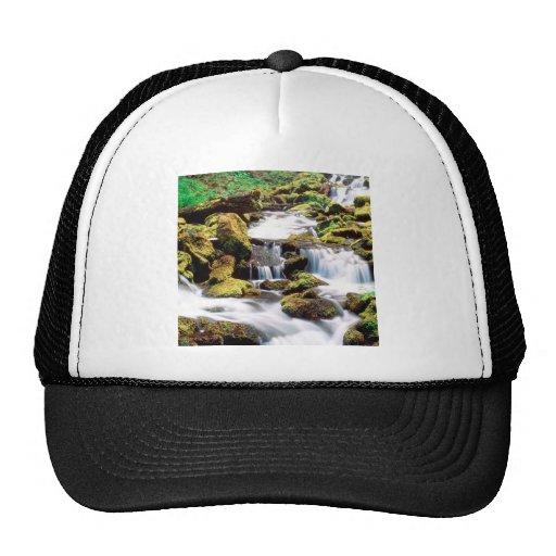 Waterfall Three Sisters Wilderness Willamette Mesh Hats