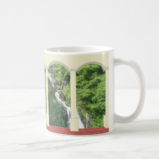Waterfall under Arch Coffee Mug