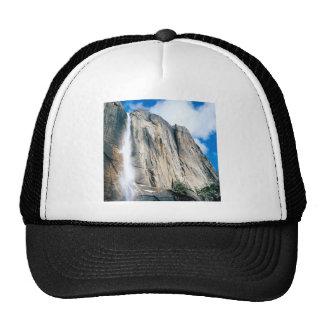 Waterfall Upper Yosemiteyosemite Park Mesh Hat