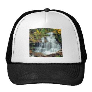 Waterfall Wagner Alger County Michigan Trucker Hats