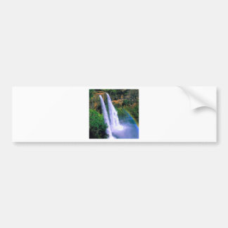 Waterfall Wailua Kauai Hawaii Bumper Sticker