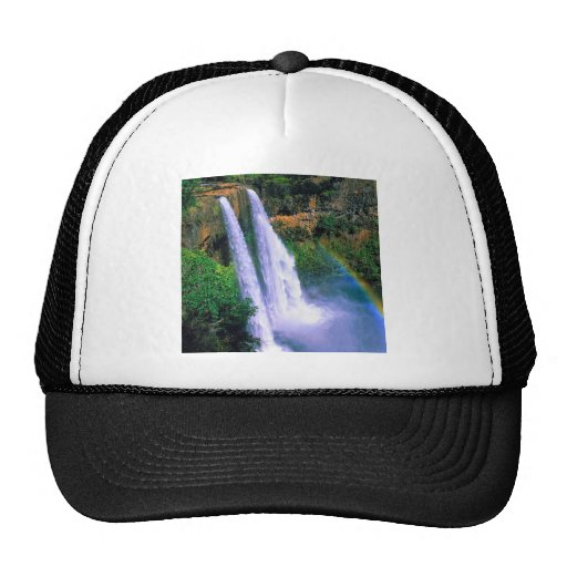 Waterfall Wailua Kauai Hawaii Mesh Hat