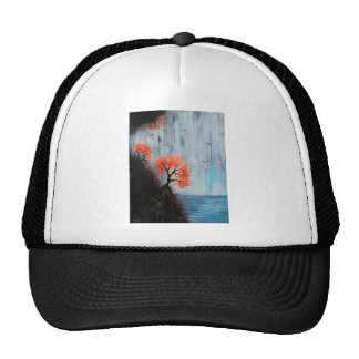 Waterfall with birds cap