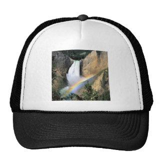 Waterfall Yellowstone Park Wyoming Trucker Hat