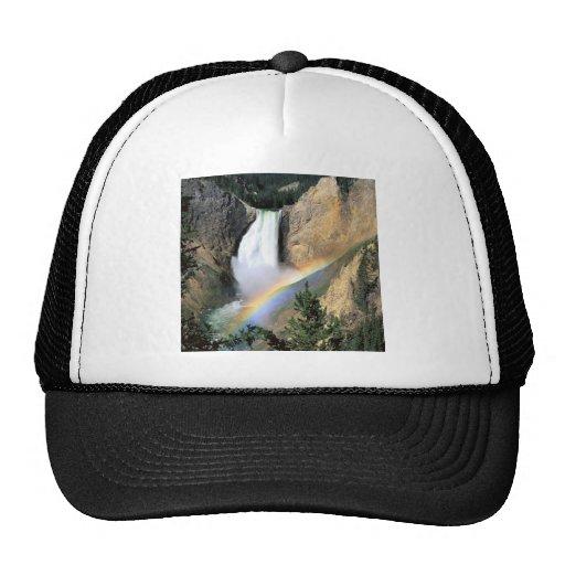 Waterfall Yellowstone Park Wyoming Hats