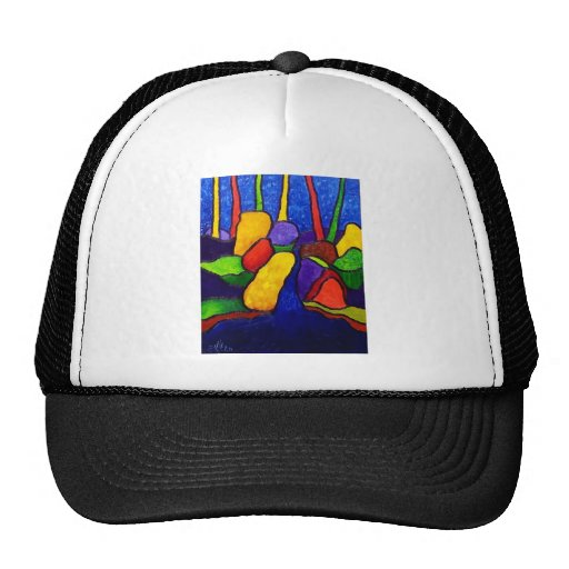Waterfalls Abstracted A 3 Mesh Hat