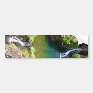 Waterfalls along the Road to Hana, Maui, Hawaii Bumper Sticker