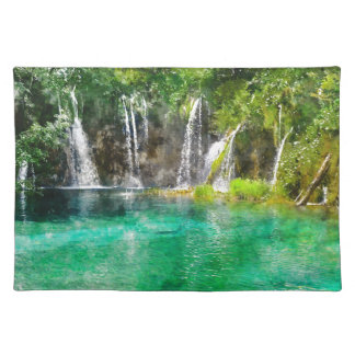 Waterfalls at Plitvice National Park in Croatia Placemat