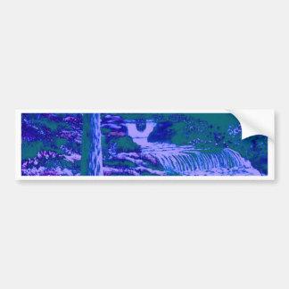 Waterfalls Gardens Forest Blue Green Bumper Stickers