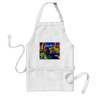 Waterfalls in Park Adult Apron