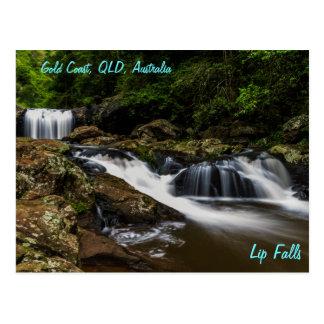 Waterfalls Lip Falls Gold Coast Australia Postcard