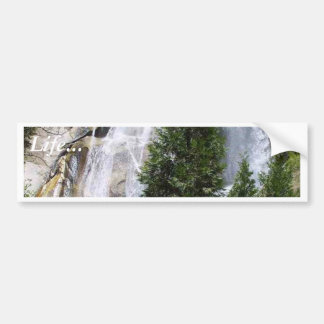 Waterfalls Trees Bumper Sticker